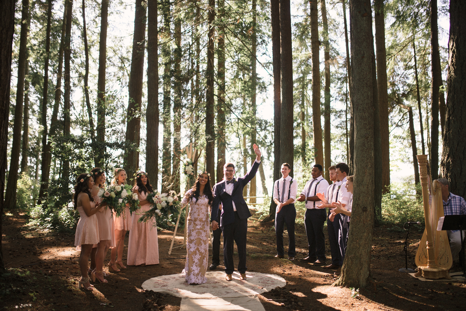 Kitsap Memorial State Park Wedding.Lindsey Spencer Kitsap Memorial State Park